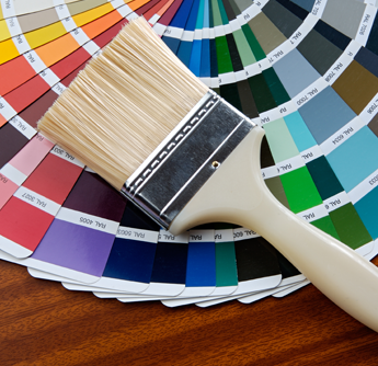 House and Interior Painters in Seattle | AllTech Painting, LLC | Brush and Color Swatches